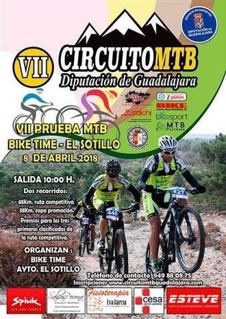 Este domingo, VII Bike Time-El Sotillo, tercera prueba del Circuito MTB Diputación de Guadalajara