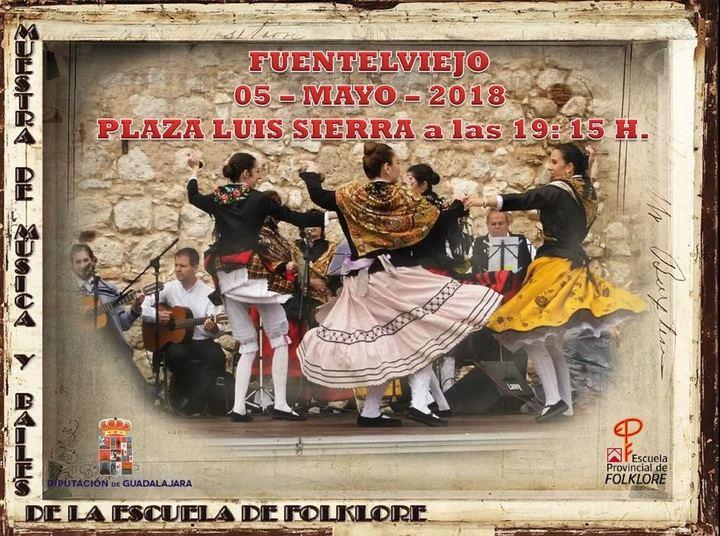 Muestra de música y bailes tradicionales de la Escuela de Folklore en Fuentelviejo