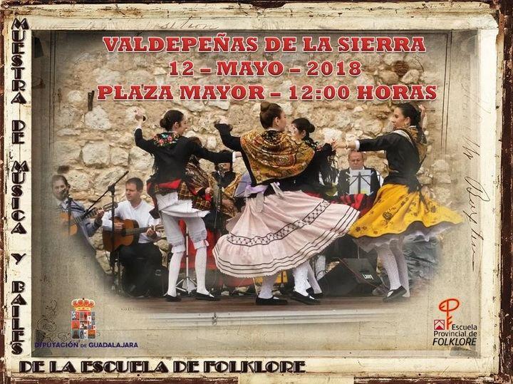 Muestra de la Escuela de Folklore de Diputación el próximo sábado en Valdepeñas de la Sierra
