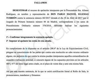 Pablo Iglesias vuelve a perder el juicio contra Eduardo Inda por los 272.000 dólares que Nicolás Maduro le transfirió a un paraíso fiscal