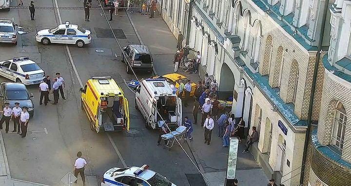 Un taxista borracho atropella a un grupo de personas en el centro de Moscú