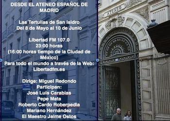 Las Tertulias Taurinas de San Isidro desde el despacho de Manuel Azaña en el Ateneo de Madrid