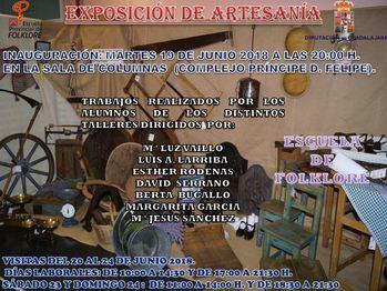 Este martes empieza la exposición de trabajos de artesanía de la Escuela de Folklore de Diputación