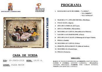 Muestra de música y bailes tradicionales de la Escuela de Folklore el sábado en Casa de Uceda