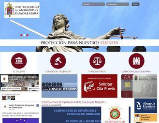El Colegio de Abogados de Guadalajara cambia la imagen de su página web