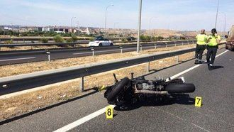 Fallece un motorista de 33 años tras salirse de la vía en la CM-1006 en La Huerce