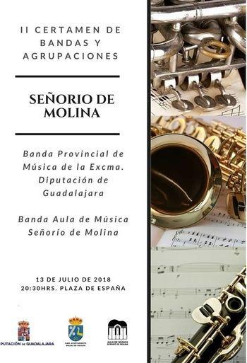 La Banda Provincial y del Aula de Música Señorío Molina ofrecerán este viernes un concierto conjunto