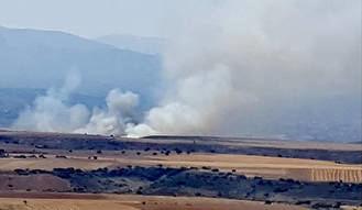 Controlado el incendio forestal de Uceda que ha afectado a 20 hectáreas de zona agrícola
