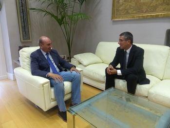El presidente de la Diputación se reúne con el nuevo subdelegado del Gobierno en Guadalajara