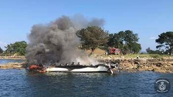 Muere el vecino de Guadalajara herido en el incendio del catamarán de O Grove