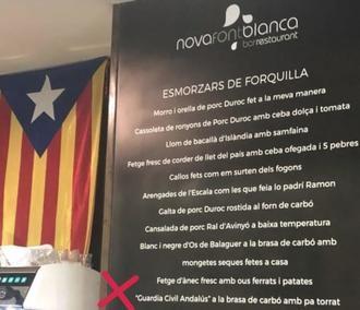 Un restaurante de Lérida ofrece en su menú