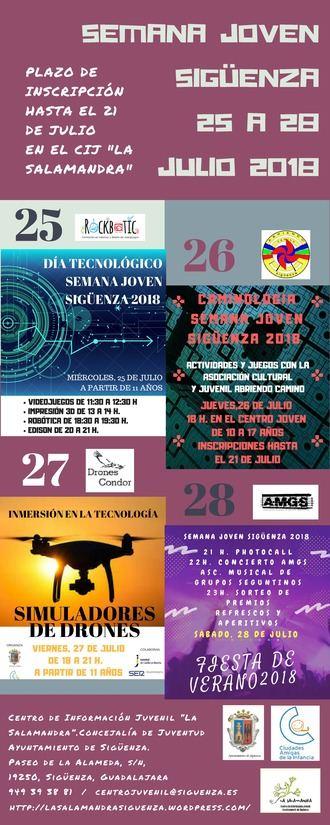 La Semana Joven de Sigüenza 2018 se dedica este año a la tecnología