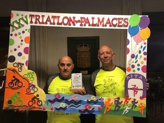 El Triatlón de Pálmaces reconoce la colaboración de la Diputación en su XXV aniversario