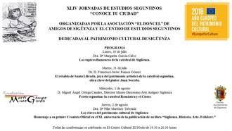 Las XLIV Jornadas de Estudios seguntinos estarán dedicadas al Patrimonio Cultural de la Ciudad del Doncel