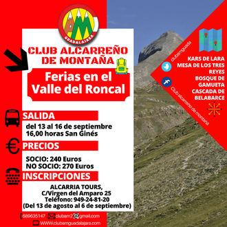 Senderismo y montaña con el Club Alcarreño de Montaña en el Valle del Roncal en Ferias