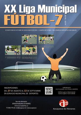 Abierta la inscripción en la XX Liga de Fútbol 7 de Azuqueca