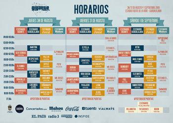 El Festival Gigante presenta sus horarios para su edición de este año