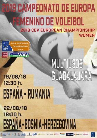 El Palacio Multiusos acoge dos partidos clasificatorios para el Campeonato de Europa Femenino de Voleibol