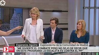 Esperanza Aguirre en estado puro, abandona en directo un programa de Telemadrid: