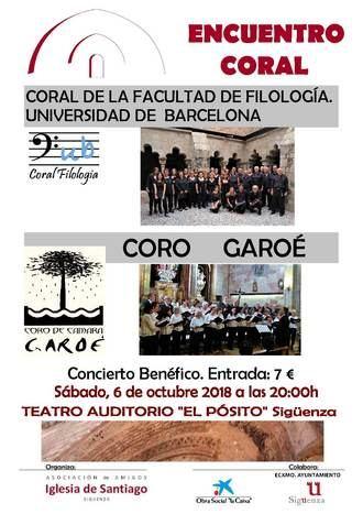 Este sábado, encuentro coral a beneficio de la Iglesia de Santiago de Sigüenza