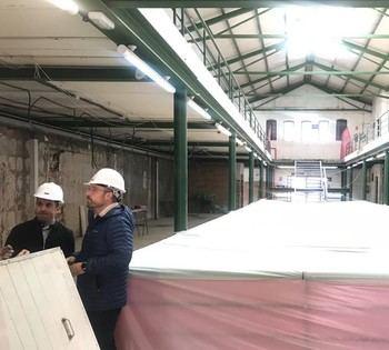 Cs Guadalajara visita las obras del Mercado de Abastos y emplaza a Román a no cometer los mismos errores que se han dado con la climatización del Cuartel del Henares