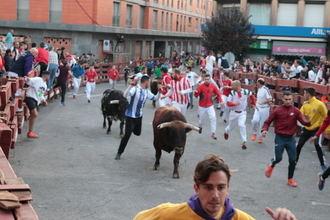 Tres heridos volteados en el Cuarto y último Encierro de las Ferias de Guadalajara
