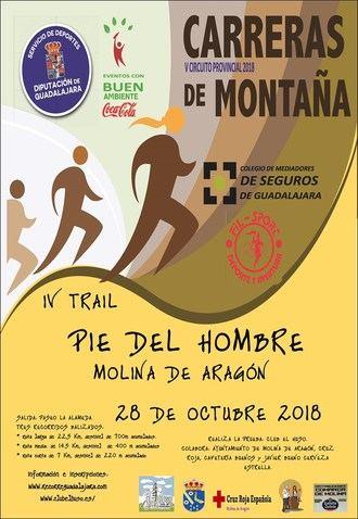 El domingo 28 de octubre, III Trail Pie del Hombre en Molina, penúltima prueba del Circuito que organiza Diputación