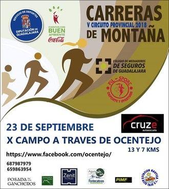 V Campo a través de Ocentejo este domingo 23 de septiembre, cuarta carrera del Circuito de Montaña de Diputación