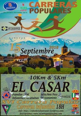 El sábado se celebra la XVI Carrera Popular El Casar, sexta prueba del Circuito Diputación