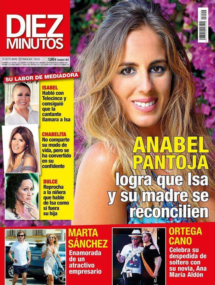 DIEZ MINUTOS Anabel Pantoja medió para que Isabel Pantoja y su hija hablasen