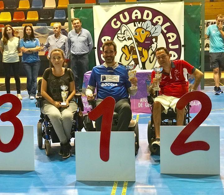 El diputado de Promoción Social Juan Pedro Sánchez asiste a la entrega de premios del XIII Open de Boccia de Guadalajara