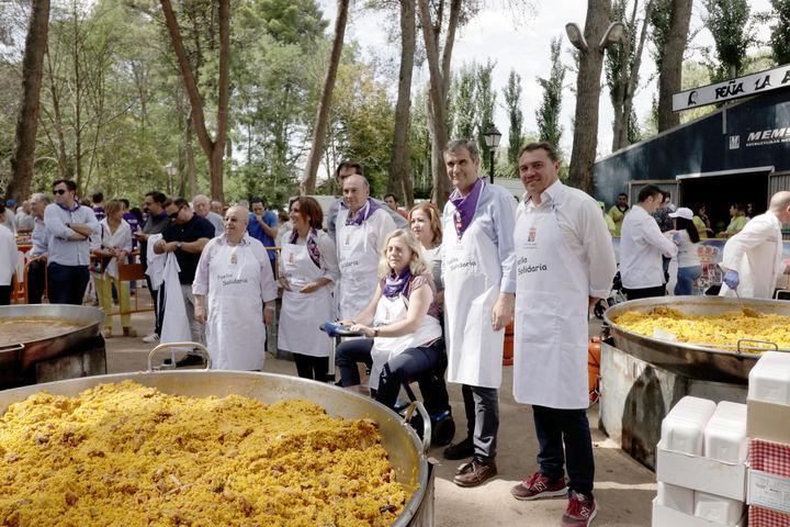 La Paella Solidaria de las Ferias de Guadalajara congrega a más de 4.600 personas batiendo todos los récords