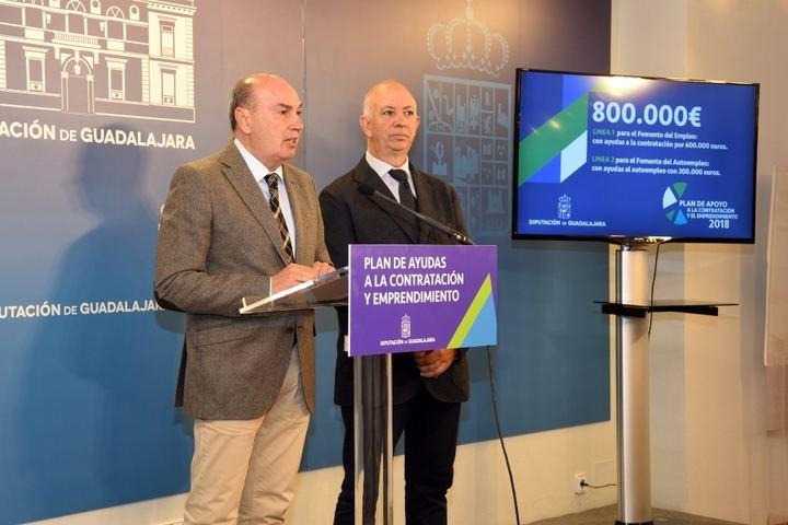 La Diputación de Guadalajara pone en marcha un Plan de Apoyo a la Contratación y Emprendimiento con 800.000 euros