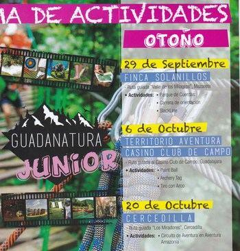Actividades de Guadanatura Junior y Joven para el sábado 29 de septiembre