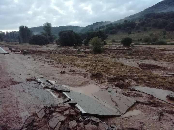 Un grave temporal de lluvias deja un desastre en varios pueblos de la Alcarria