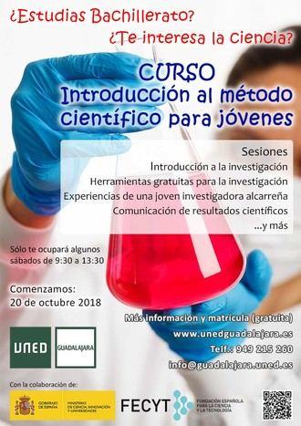 Curso de Introducción al Método Científico para jóvenes en la UNED de Guadalajara