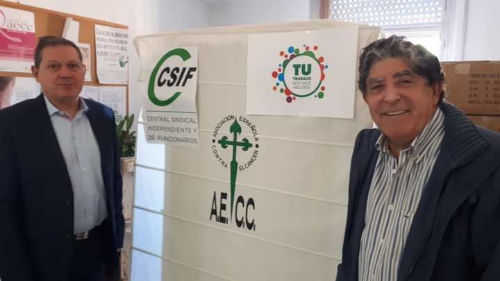 La AECC y el sindicato de funcionarios CSIF colaboran en la lucha contra el cáncer