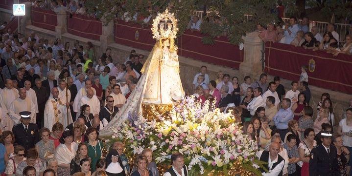 """""""La Virgen de la Antigua"""", detalle monumental de septiembre en Guadalajara"""
