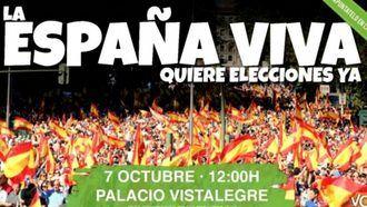 """VOX organiza en Madrid el acto """"La España viva exige elecciones ya"""""""