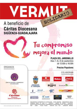 Las Cofradías y Hermandades de Guadalajara organizan un vermú solidario para Cáritas
