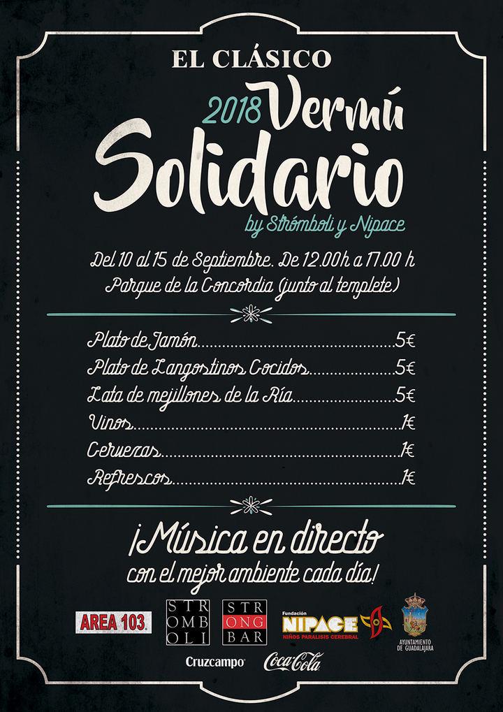 Fundación Nipace y Strómboli organizan el V Vermú Solidario de las Ferias de Guadalajara