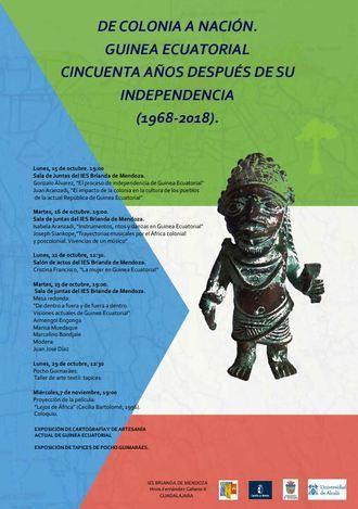 Jornadas en el IES Brianda de Mendoza: 'De colonia a nación. Guinea Ecuatorial cincuenta años después de su independencia'