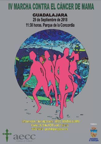 La AECC organiza la IV Marcha Contra el Cáncer de Mama en Guadalajara el sábado 29 de septiembre