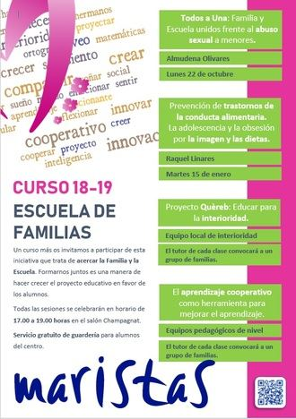 Prevención del abuso sexual infantil en la Escuela de familias de Maristas