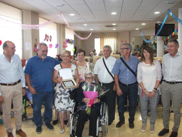 Anacleta Llorente llegó a los cien años en Sigüenza