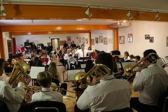 La Banda de Fuentenovilla se luce en Santa Cecilia