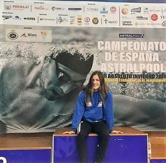 Elsa López compitió en la final del Campeonato de España Absoluto de Natación