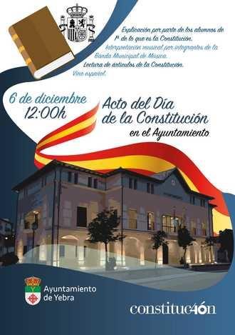 El Ayuntamiento de Yebra homenajeará a la Constitución Española en el día de su 40 aniversario