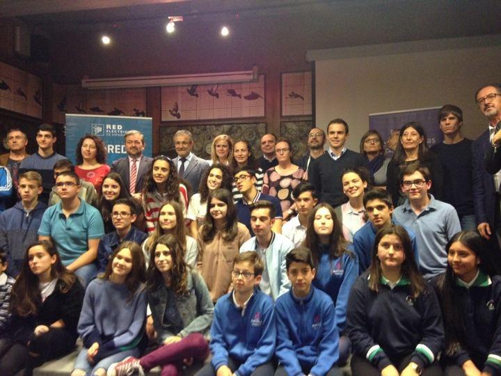 Alumnos del colegio Marista de Guadalajara en los actos del 40 aniversario de la Constitución española