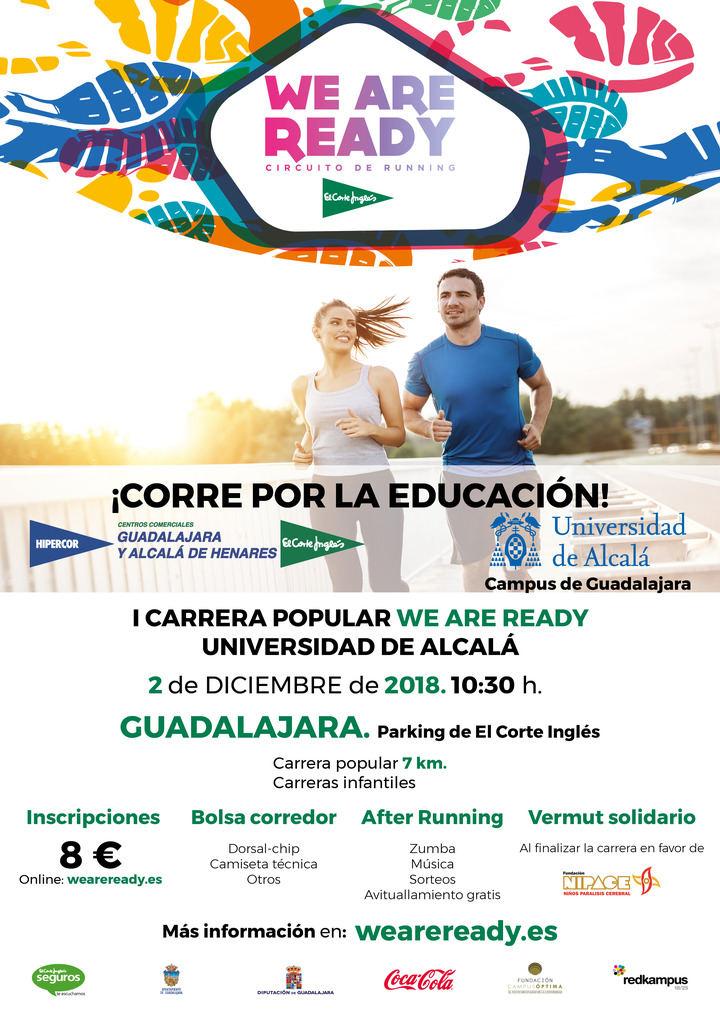 La I Carrera Popular Solidaria 'We are ready' Universidad de Alcalá recorrerá las calles de Guadalajara